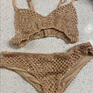 Beach Riot sparkle crochet bikini ✨